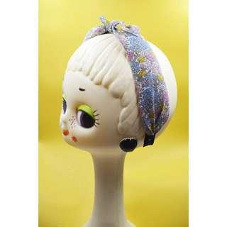 Petit babe 夏季粉藍小花髮箍