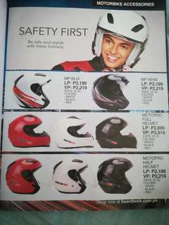 Motorbike accessories jacket and helmet