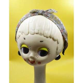 Petit babe  夏季雪紡布料小黃花髮箍