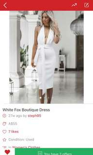 White fox boutique dress