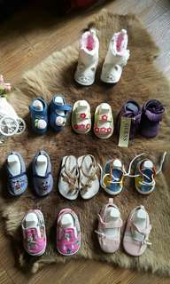 Baby Shoes: Mothercare, Guess (new), pleu