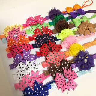 Clearance: Final pieces: Baby Headbands Hairbands