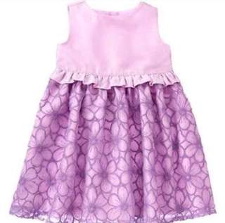 *6-12M* Brand New Gymboree Lilac Embroidered Dress For Baby Girl