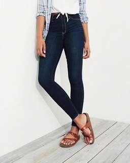 Hollister jean leggings navy high waisted