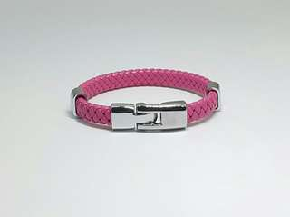 FREE Pink Braided PVC Leatherette bangle