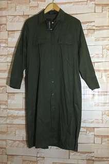 Woman Brand New Army Green Shirt Dress