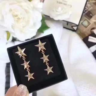 [Promotion] Buy 2 at $60.C Triple star Earrings ear studs