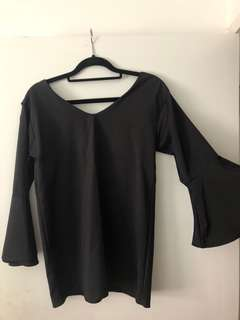 Black glassons dressy top