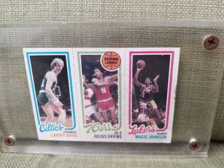 NBA Topps Card 1980s Larry/Magic/Erving