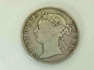 Queen Victoria 1896, 20cent. Silver