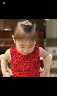 Carter's 玫瑰紅洋裝