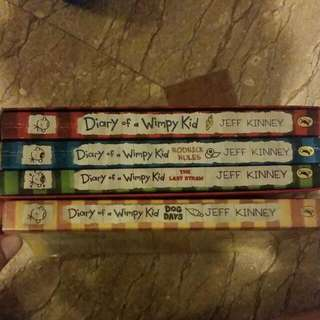 4 x Diary Of A Wimpy Kid Series
