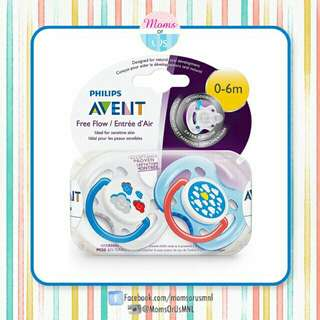 "‼️RESTOCK‼️ AVENT Free Flow Pacifier (0-6m) ""CLOUDS"""