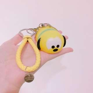 布丁狗卡通造型鑰匙圈 編織繩吊飾