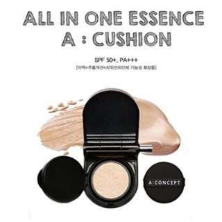 A : Concept all in one essence cushion with lip sticks