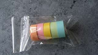 Pastel colors washi