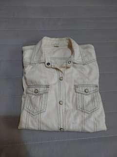 50% 米白牛仔外套 #女裝半價