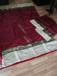 King size silk bedsheet set
