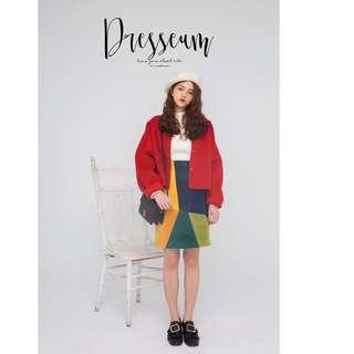 dresseum-畢卡索拚色裙子(完全沒穿出門過-不適合我的身型轉賣出去)