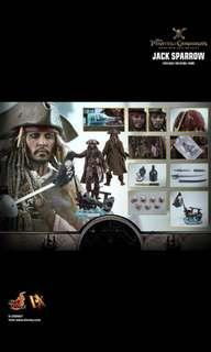 全新 啡盒未開 Hot Toys DX15 魔盜王 Pirates of the Caribbean Jack Sparrow 1/6 Figure