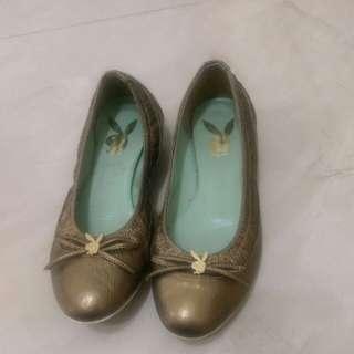 Playboy金色娃娃鞋