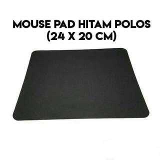 Mousepad Murah Hitam Polos (24 × 20 cm) Mouse Pad Termurah