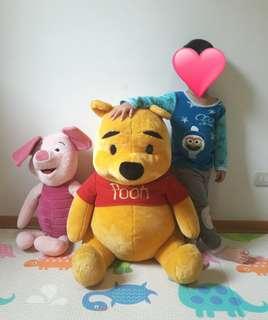 [二手]美國寄回 迪士尼維尼+粉紅小豬  兩隻合售出清價=台幣3,900