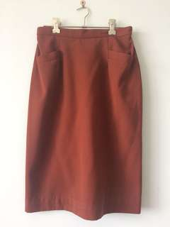 Vintage Burnt orange skirt with pockets