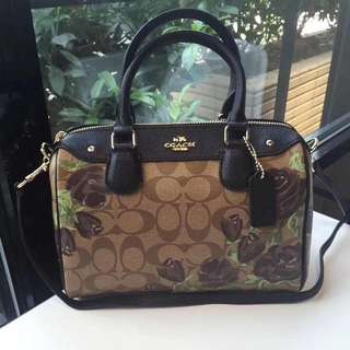Coach Mini Bennett Satchel with Camo Rose Floral Print