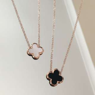 Rose Gold Clover necklace