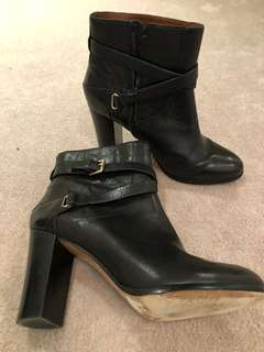 Massimo Dutti Leather Ankle boots