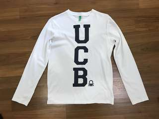 UCB white long sleeves top