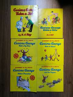 Curious George - 6 books