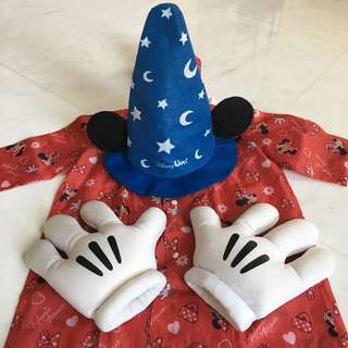 Mickey Mouse Mitts, Hat and Raincoat