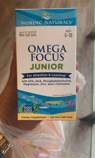 Omega Focus Junior Supplements