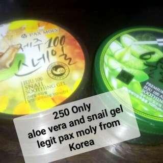 Aloe vera and snail gel