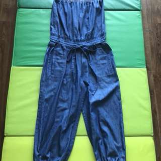 Denim Tube Jumpsuit with free bolero