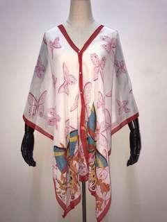 Kimono Kaftan silk top