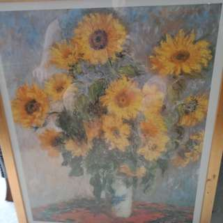 Van Gogh print of sunflowers