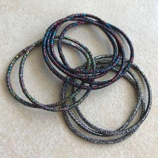 [BN] Shiny Elastic Hair Ties / Rubber Bands