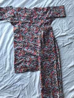 Kurung cotton 3-6yrs preloved