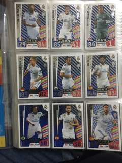 Match Attax Champions League Real Madrid Winners Foil Set
