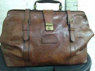 Camel ® Leather Duffle Large Bag