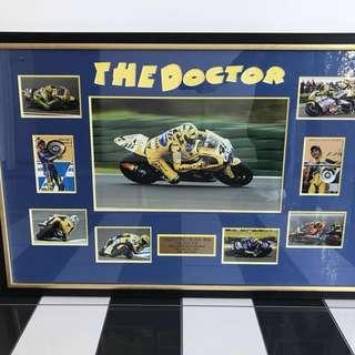 Valentino Rossi Framed Tribute Photo Montage Professionally Framed Black & Gold.