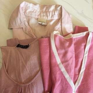 Pink blouses bundle-3 sold together