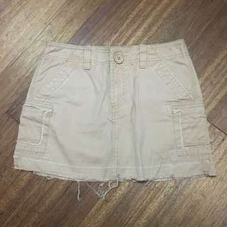 Old Navy Distressed Brown Mini Skirt