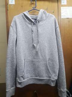 SUPER CUTE PLAIN GRAY HOODIE JACKET!! 💕💕 USED TWICE ONLY