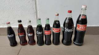 1 Litre & Various Sizes Coke Bottles