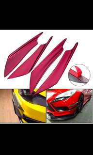 4 x Universal Front and Rear Bumper Spoiler
