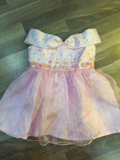 Girl pink dress gown